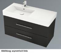 Neuesbad System 1 Waschplatz Komplett-Set, asymetrisch rechts, B:1000, T:450, H:580 mm