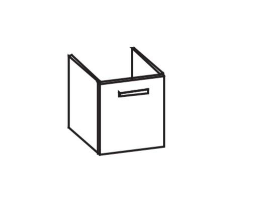 Artiqua 411 Waschtischunterschrank für Vero 045450, Stahlgrau, 411-WUT-D17-L-7142-88