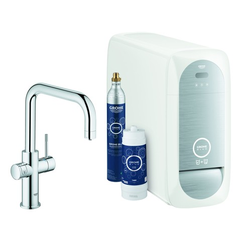 Grohe Blue Home Starter Kit 31456 Bluetooth/WIFI U-Auslauf chrom, 31456001