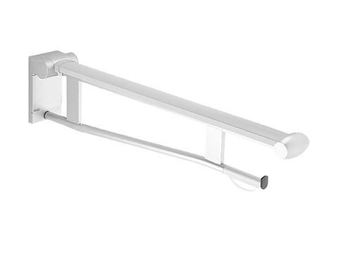 Keuco Stützklappgriff WC Plan Care 34903, mit, WC-PH, verchromt/weiß, 850 mm