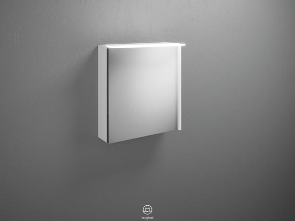Burgbad Spiegelschrank Badu, 665x600x310 Weiß Matt