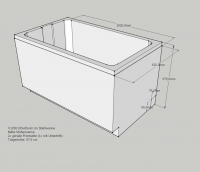 Neuesbad Wannenträger für Bette Stufenwanne 105x65