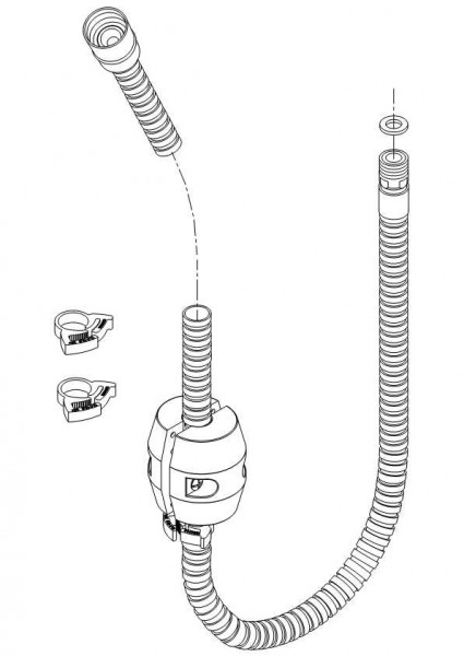 Damixa Reparatur-Set Space Schlauch M/Stop 1500mm, Wandarmatur, 2367900