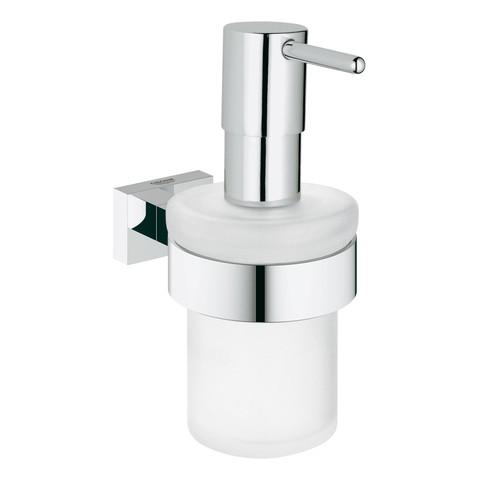 Grohe Seifenspender mit Halter Essentials Cube 40756 chrom, 40756001