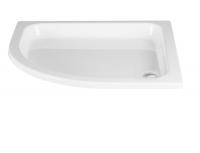 HSK Acryl Viertelkreis-Duschwanne flach 80 x 80 x 10 cm, mit Schürze
