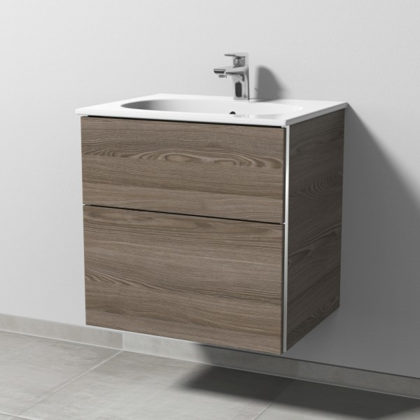 Sanipa 3way Waschtischunterschrank mit Auszügen BR41014, Pinie-Grau