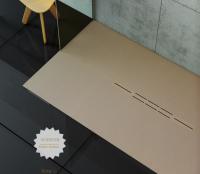 Fiora Silex Privilege Duschwanne, Breite 80 cm, Länge 100 cm, Farbe: capuccino