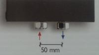 Aufpreis für Mittelanschluss (Nabenabstand 50 mm) zu Caleido Designheizkörper