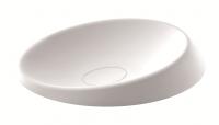 Marmorin Goccia Aufsatzwaschtisch, B: 638 mm, T: 400 mm, H: 134 mm, weiss glänzend