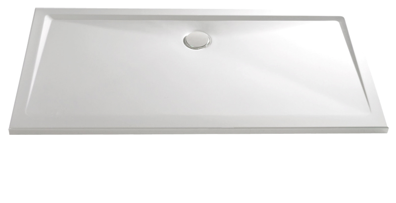 HSK Acryl Rechteck-Duschwanne super-flach 90 x 100 x 3,5 cm, ohne Schürze 525095-jasmin