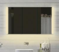 Neuesbad Alu LED Spiegelschrank, Lichtfarbe wählbar, B:1400, H:700 mm