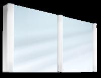 Schneider Spiegelschrank Pepline 130/2/FL, 3x14W 1300x640x120 weiss, 153.130.02.02