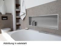 ESS BOX 10 Weiß Wandnische 90x30x10 cm mit Rahmen Poliert, inkl. Rohbauset, BOX-90x30x10-PW