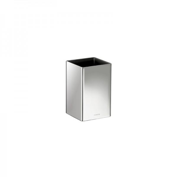 Pomdor Secret Zahnbürstenhalter Quadratisch 7x7x11,2cm, Chrom, 597502002