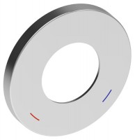 Keuco Wandrosette EHM IXMO 59551, rund, 105 mm, Aluminium-finish, 59551170091