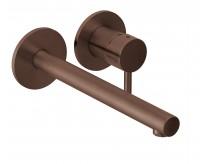 Herzbach Design iX Wandbatterie UP Farbset 2 Blenden rund Ausladung 240mm Copper, 21.139575.1.39