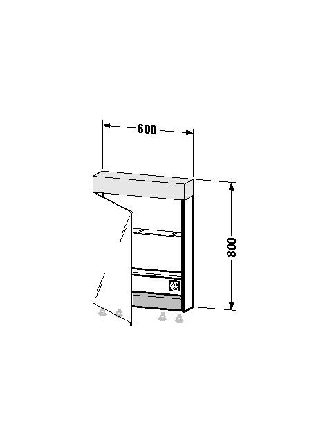 Spiegelschrank Vero 142x600x800mm VE7600L0000