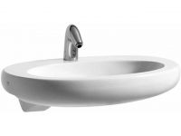 Laufen Halbeinbauwaschtisch Il Bagno Alessi One 750x500, weiß mit LCC , 81397.2, 8139724001041