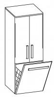 Artiqua EVOLUTION 214 Hochschrank B:450mm 2 Türen 1 Wäschekippe