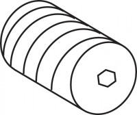 Mepa Wechseleinsatz für Eck-, ventil Spülkasten R11, 590204