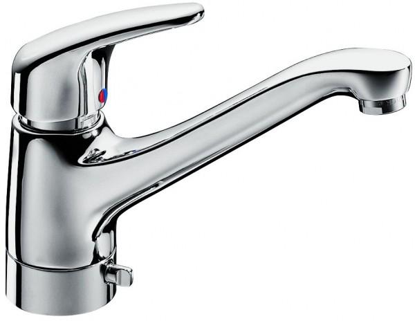 KAJA-MIX Einhebel-Spültisch., für Unterfenstermontage, umlegbar, chrom