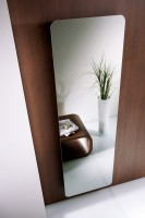 HSK Design-Heizkörper Softcube mit klarer Spiegelfront, 570 x 1800 mm, Korpus: sandstein