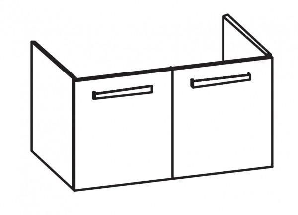 Artiqua 413 Waschtischunterschrank für Acanto Compact 500633,500634, Weiß Glanz, 413-WU2T-K174-7050-