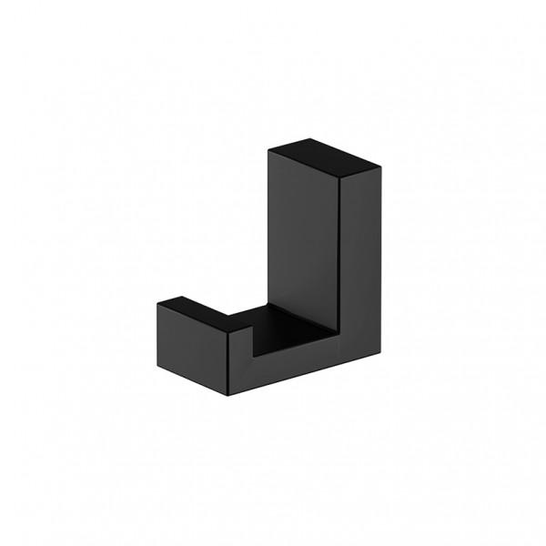 Steinberg Handtuchhaken aus Messing, schwarz matt, 4602400S, 460.2400S
