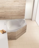 Hoesch Badewanne Spectra Eck 1400 ohne Schürze,