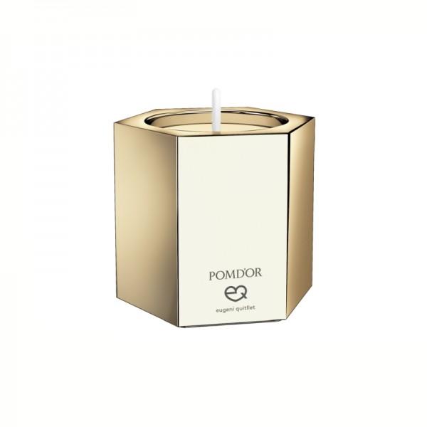 Pomdor Mirage Mittlerer Hexagon-Kerzenhalter 5x5,8x5,1cm, Gold, 726551001