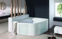 Hoesch Whirlpool Ergo+ 6443&Tergum Whirl, weiß/verchromt/Glas schwarz, 6443N.010305552
