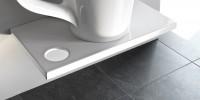 ArtCeram One Shot Breakfast Konsole für Cup oder Cow Aufsatzbecken, B: 750, T: 450, schwarz glänzend