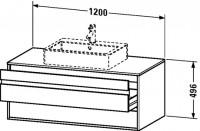 Duravit Waschtischunterschrank wandhängend Ketho T:550, B:1200, H:496mm, KT6656
