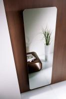 HSK Design-Heizkörper Softcube mit klarer Spiegelfront, 570 x 1800 mm, Korpus: silber