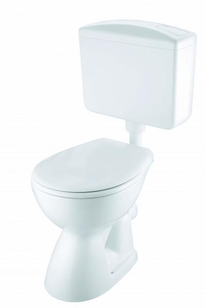 Neuesbad Basic plus Stand-WC Komplettset, Abgang waagerecht