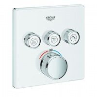 Grohe THM Grohtherm SmartControl 29157 eckig FMS 3 Absperrventile moon white, 29157LS0