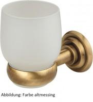 Zahnbürstenglas mit Halter Siena Altmessing