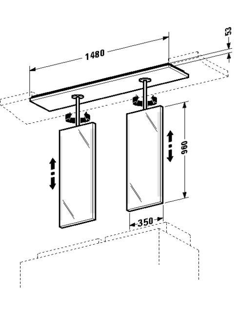Spiegelelement 2nd floor 300x1480mm 2F963908585