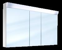 Schneider Spiegelschrank Wangaline 150/3/FL, 1x49W 1500x780x150 alueloxiert, 150.150.02.50