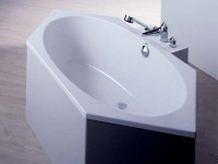 Hoesch Badewanne Armada 6-Eck 1600x750, weiß