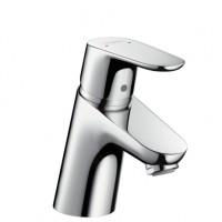 Hansgrohe Waschtischmischer Focus 70 chrom mit Push-Open Ablaufgarnitur, 31604000