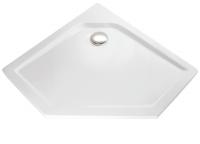 HSK Acryl Fünfeck-Duschwanne super-flach 90 x 90 x 3,5 cm, ohne Schürze