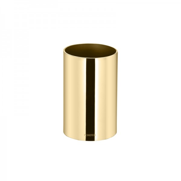 Pomdor Secret Zahnbürstenhalter Rund Ø7x11,2cm, Gold, 597501001