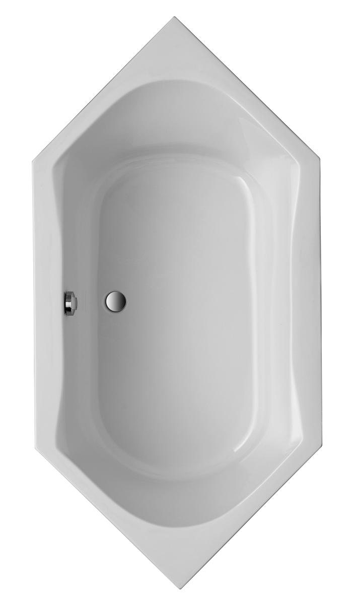 Acryl Sechseck-Badewanne Corsica 2000x1000 mm, weiß