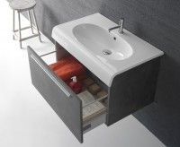 Globo Bowl Waschtischunterschrank, B:80, T:50, H:50 cm, 1 Schublade, BPM3Y906, Frontfarbe/Korpusfarb