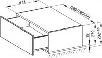 Bette Modules Lowboard mit Sockel 1 Ausz, 60x49,5 cm weiß Hochglanz, RLA1-800