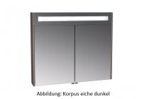 VitrA Spiegelschrank VitrA S20 800 x 150, x 700 mm Korpus Eiche, Dekor, 82234