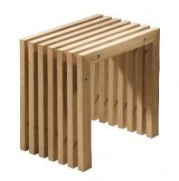 Emco Single interiors Hocker aus Echtholzprofilen B: 50 T: 35 H: 45 cm
