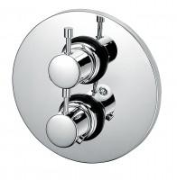 KAJA-Ipuri Thermostat-Fertigmont.-Satz f. Einbaukörper m. Absperrung, velourschrom