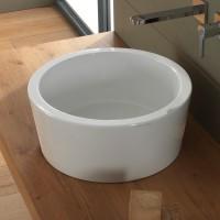 Scarabeo Bucket Aufsatzwaschbecken Ø 42 cm, weiss, 8807